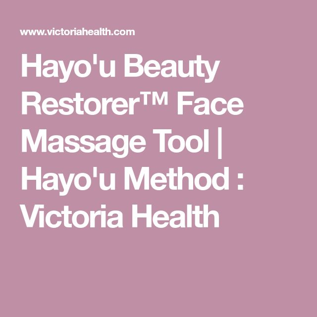 Hayo'u Beauty Restorer™ Face Massage Tool | Hayo'u Method : Victoria Health
