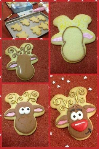 Galleta reno con cortador gingerman