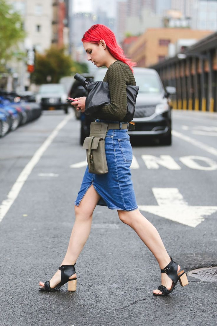 The Most Authentically Inspiring Street Style From New York #refinery29 http://www.refinery29.com/2015/09/93788/ny-fashion-week-spring-2016-street-style-pictures#slide-29 A belt with purpose....: