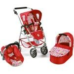 Bayer Chic 2000 Emotion Dolls Pram 3 in 1 ruby red - Collection 2016