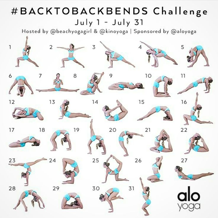 We have designed next month's yoga challenge to help inspire you to become stronger and more flexible in your backbends! Description from instagram.com. I searched for this on bing.com/images