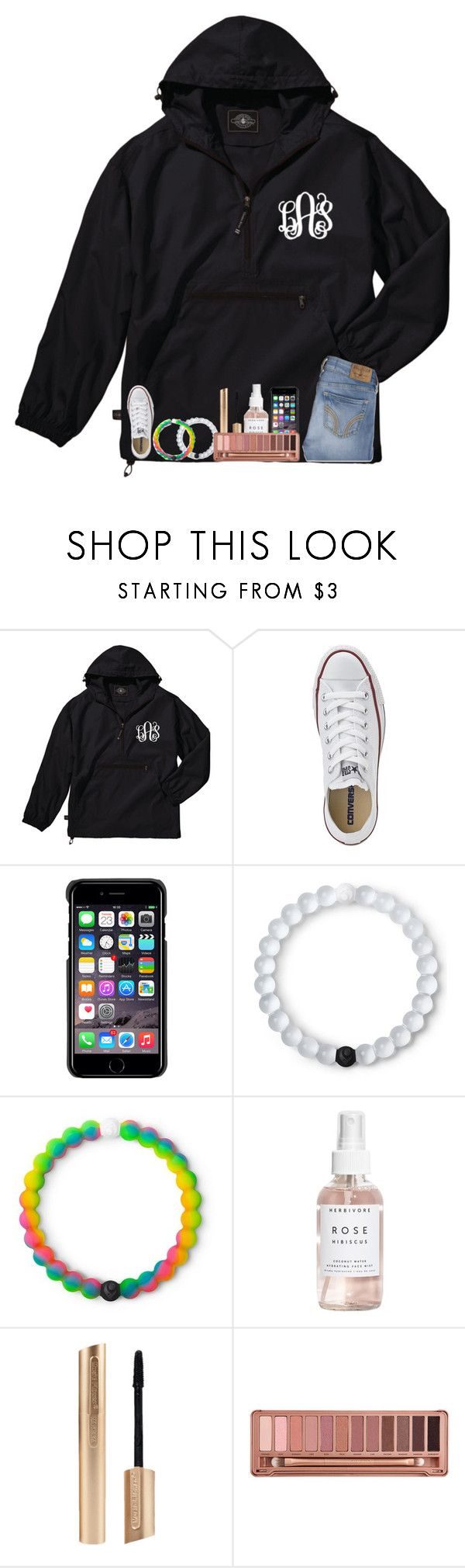 """rain rain go away"" by simply-sloane ❤ liked on Polyvore featuring Converse, County Of Milan, Lokai, Herbivore, Urban Decay and Hollister Co."