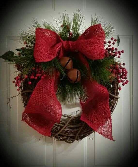 10 hermosas coronas navide as que conseguir n que tu casa - Coronas de navidad para puertas ...