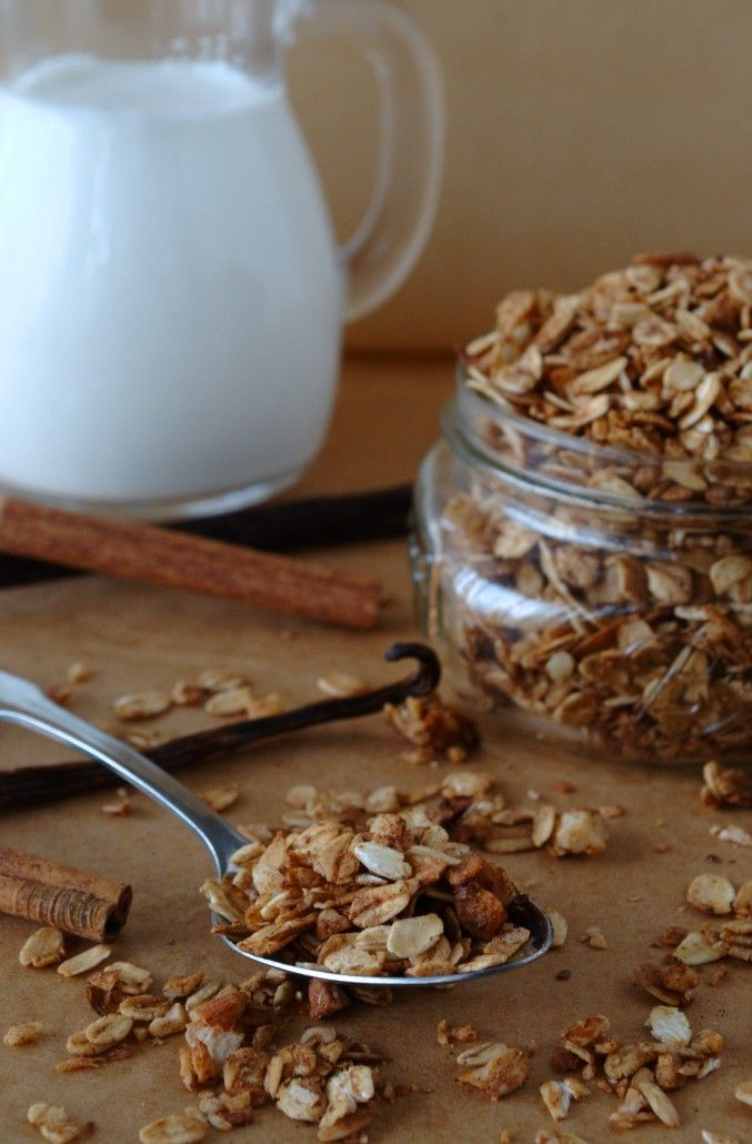 Cinnamon Maple Granola with Coconut | snacks | Pinterest