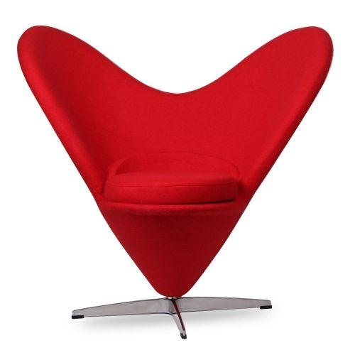 Butaca cuore tapizada en color rojo