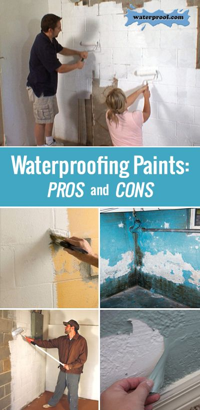 Basement waterproofing paints pros and cons diy for Basement pros and cons