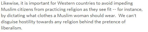 What the US President Obama had said in indirect reference to French ban on Muslim veil, in his speech to Muslim nations at Cairo University in 2009