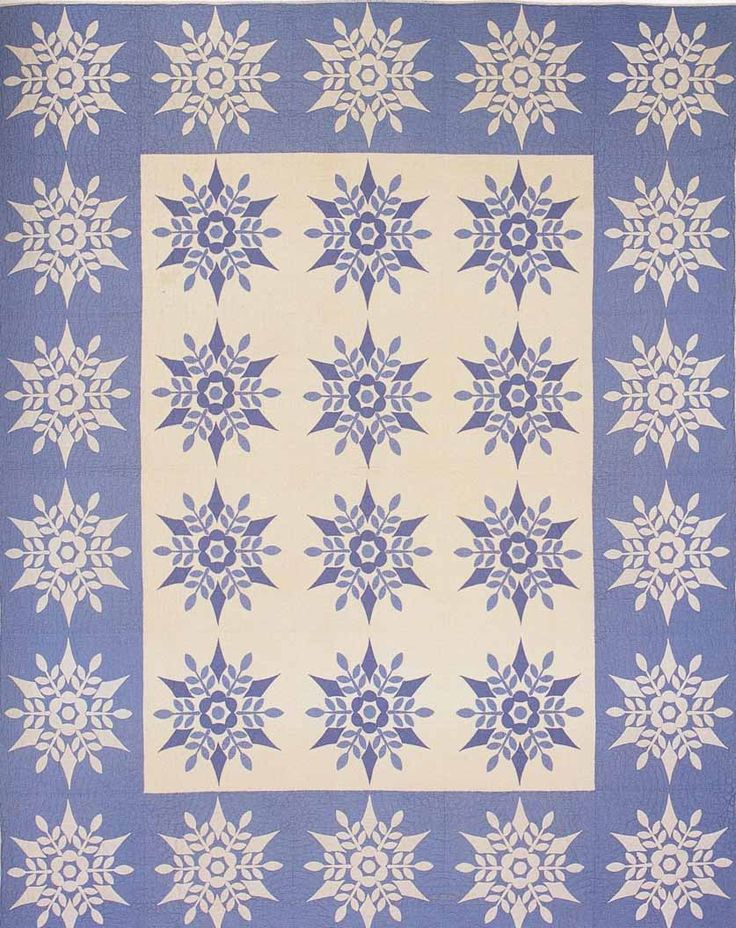 Snowflake Applique, 1941. Made by Emily Allen Kain. York Co, Pennsylvania.