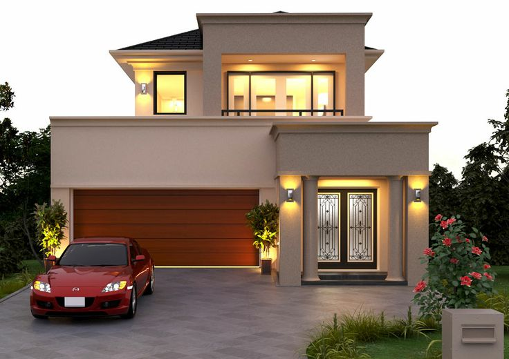 Beautiful double storey small house plans modern Small double story house designs