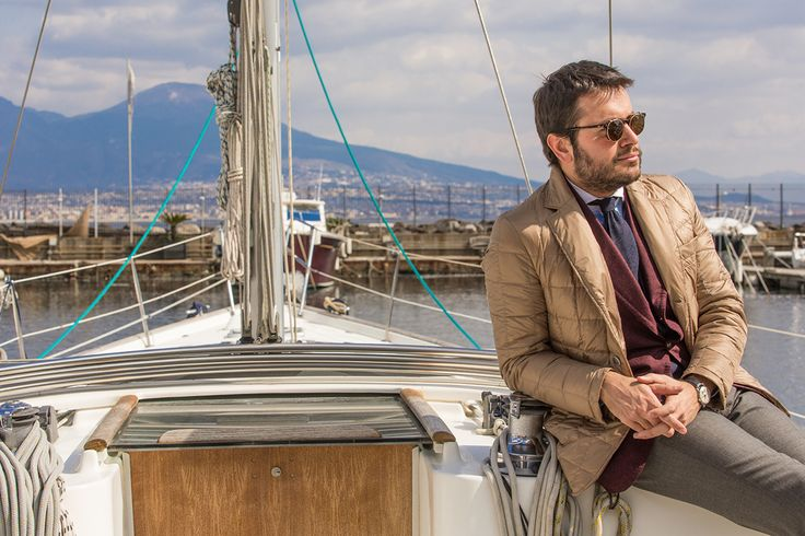 """Style influencer Fabio Attanasio interprets Fay's iconic Down Jacket in the breathtaking setting of Naples for Double Life project. """"Couture and functional, this garment accompanies any gentleman throughout his day"""" - Fabio Attanasio Find out more at: http://www.fay.com/double_life"""
