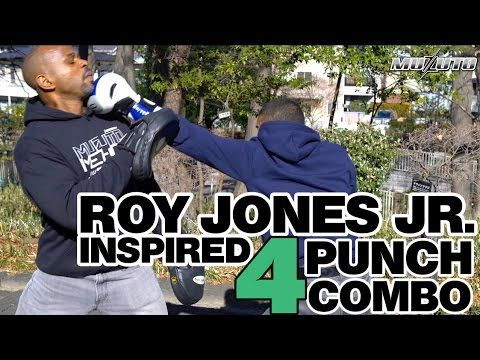 Roy is know for leading with power punches. This Roy Jones Jr  inspired 4 Punch Combo will help with your power shots as well as defensive tactics like slipping and side stepping.