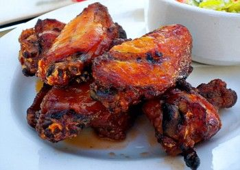 Spicy Chicken Wings @BarBersQ in Napa: Spicy Chicken, Wings Barbersq, Chicken Wings