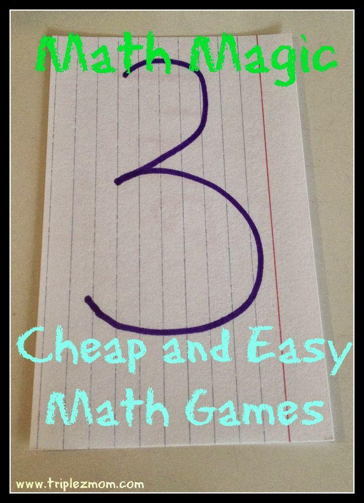 Math Magic: Cheap and Easy Math Games |TripleZmom, not Supermom
