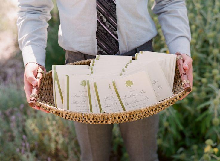 wedding reception booklet