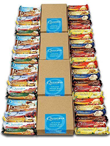 Quest Nutrition–Protein Bar–48Verrou Boîte de 60g–Lot de 4–Mix Box: Qualité supérieure De haute qualité bioverfügbare protéines…