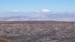 El desierto de Tabernas es un desierto localizado en la provincia de Almería