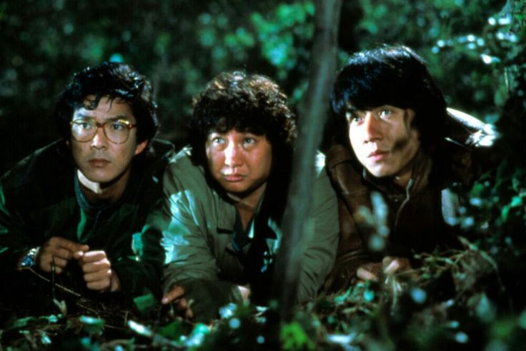 """Yuen Biao, Sammo Hung, and Jackie Chan in """"Meals on Wheels""""- 1984"""