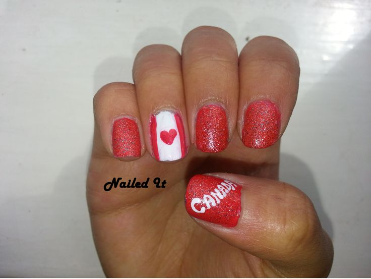 Canada Day Nails! #Canada #Nails