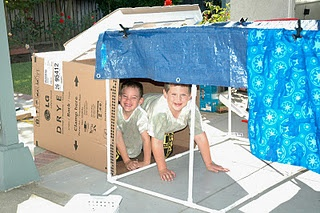 Making Forts with PVC