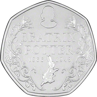 2016 150th Annivarsary of the Birth of Beatrix Potter 50 Pence Reverse