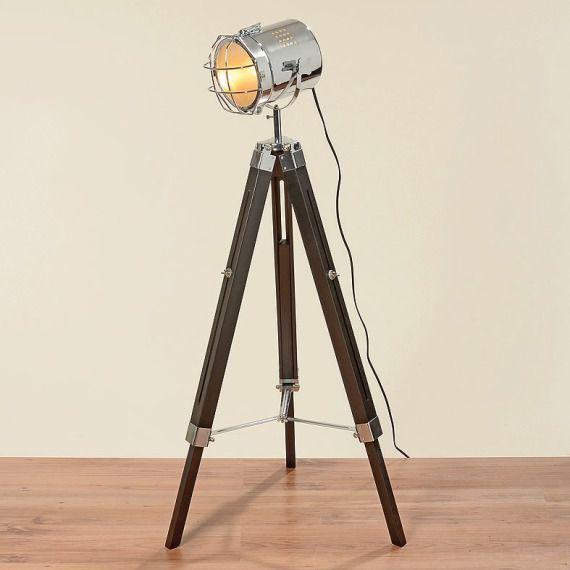 LAMPA TRÓJNÓG REFLEKTOR DREWNIANA