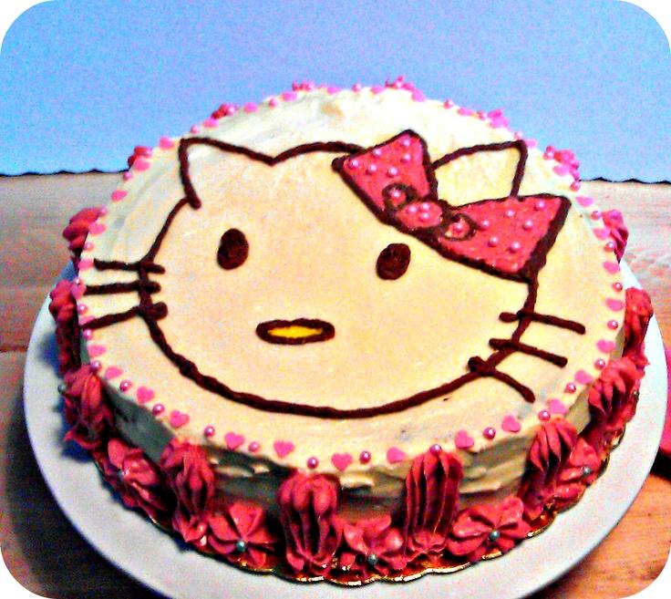Dracula Cake custom made with a Hello Kitty theme - www.ibakeyourpardon.com