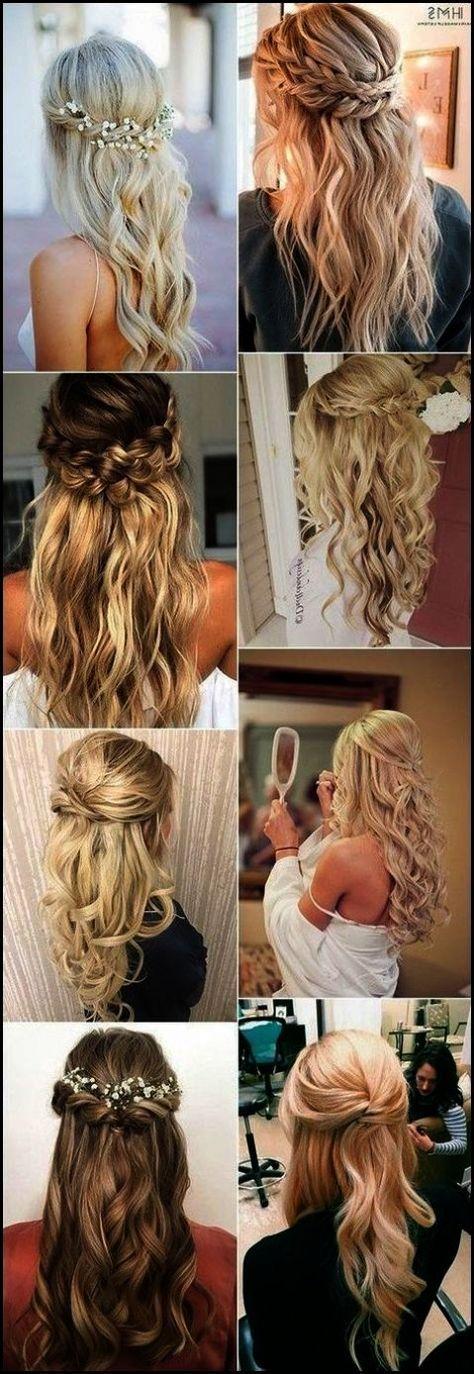 Wedding hairstyles for long hair bridesmaid simple half up 41 Super ideas