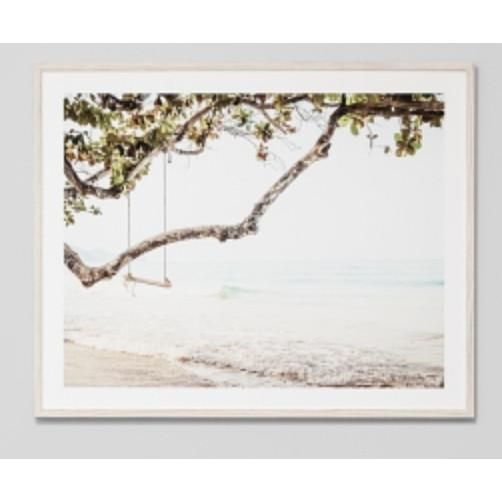 ART PRINT | framed 'ocean swing' photographic print