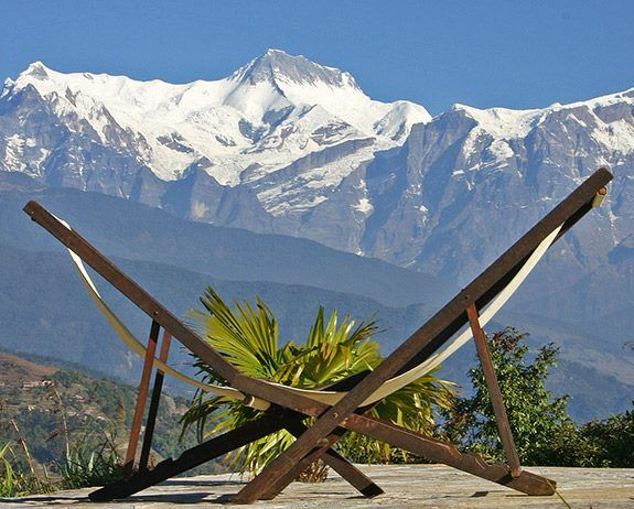 Beautiful view of Annapurna range from your lodge in the Himalayas of Nepal.  www.mysticlandadventurepltd.blogspot.com