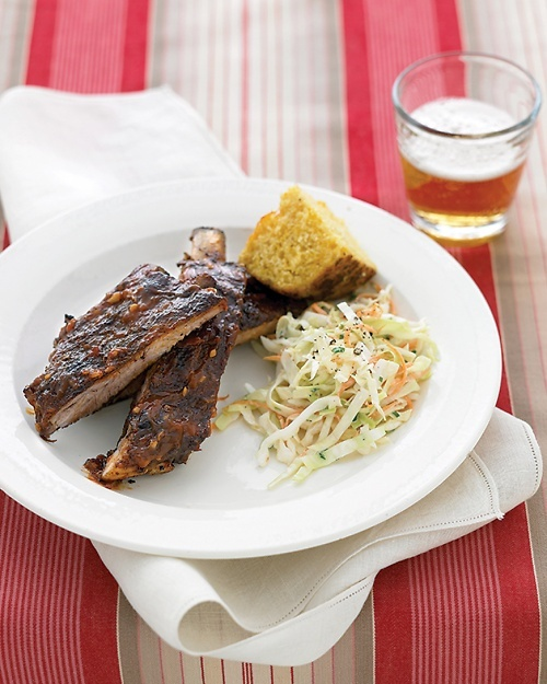 Grilled Spare Ribs with Barbecue Sauce Recipe
