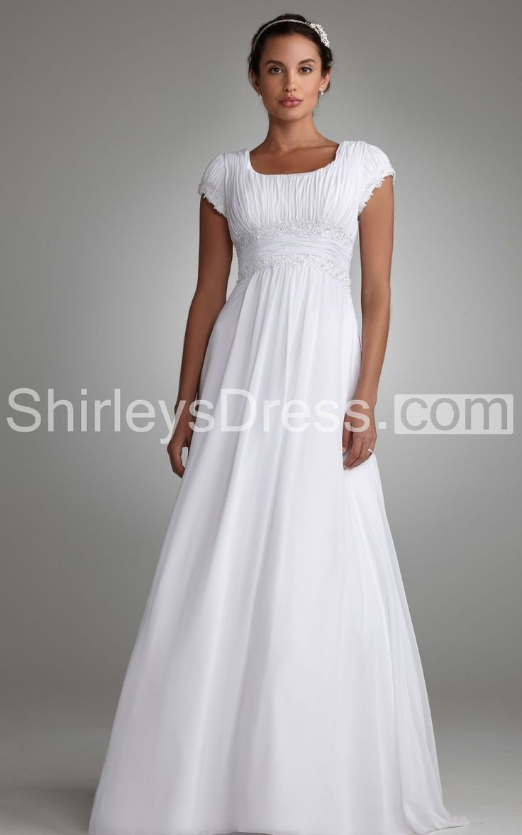Best 25 simple short sleeve wedding dress ideas on for Petite wedding dresses with sleeves