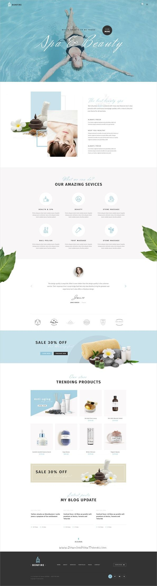 Bonfire is a creative multipurpose #Photoshop template for a range of #spa #center business & corporation like fashion store, creative agency, web studios, freelancers, shop, interior shop, architecture portfolio websites Comes with 18+ stunning Pre-defined Homepages & 44 organized PSD pages download now➩ https://themeforest.net/item/bonfire-creative-multipurpose-psd-template/19267643?ref=Datasata