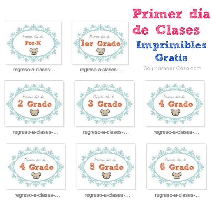 Primer día de clases: imprimibles gratis  http://soymamaencasa.com/2014/07/primer-dia-de-clases-imprimibles-gratis.html