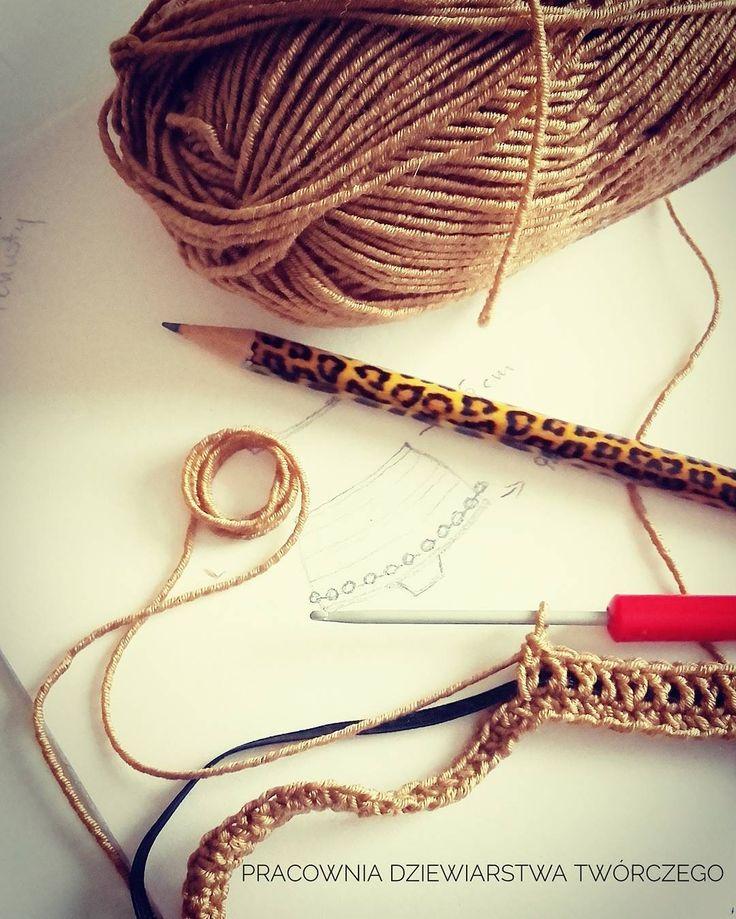 Dreams of Summer 🐚🌱🌿🌻 #crochet #workinprogress #newproject #summer2017 #mikrofiber #yarn #handmade #swimsuit #bikinicrochet #pompom #style #crochetlove #gold #passion