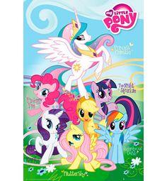 MY LITTLE PONY -juliste, jossa ponien nimet