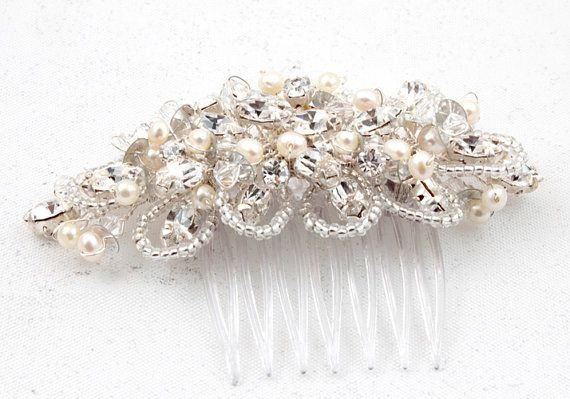 Pearl & Crystal Hair by Tiaras & Co