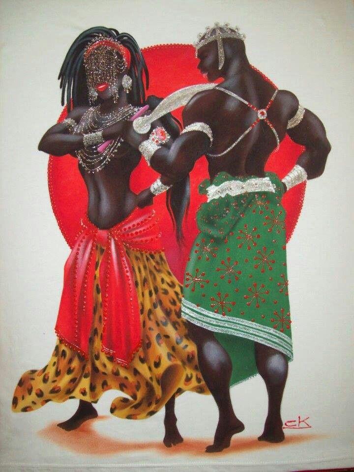 Oya & Oggun by Claudia Krindges