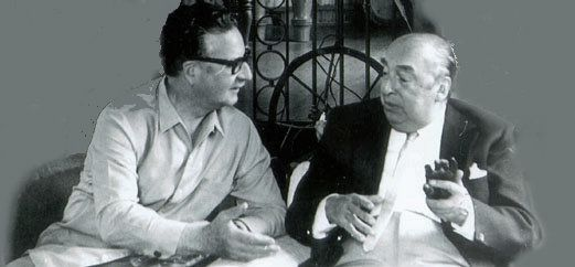 Salvador Allende y Pablo Neruda