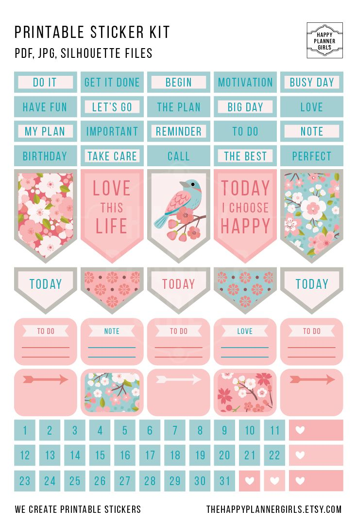 Beautiful floral stickers