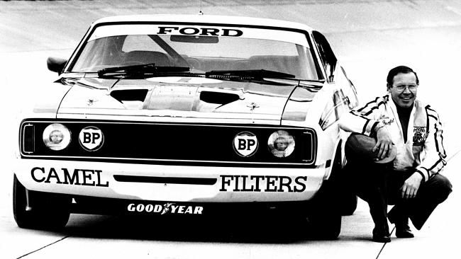 Moffat with one of his coupes at Ford's You Yangs proving ground.