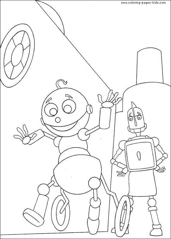 robots free coloring page
