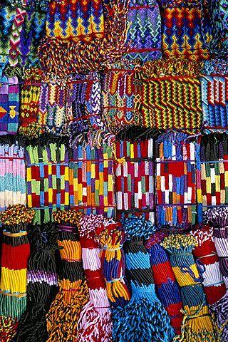 pulseras de la amistad, Panajachel, Lake Atitlan, Guatemala, América Central