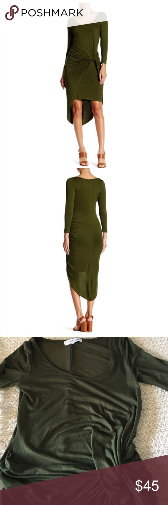 Super stylish dress! Brand new fantastic dress beautiful army color , stretch and comfy and chic! Dresses