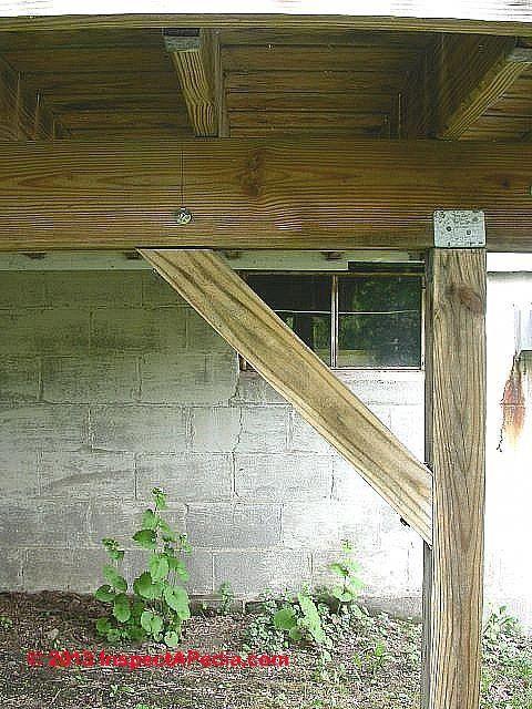 Deck Post To Beam Bracing C Daniel Friedman Deckconstruction