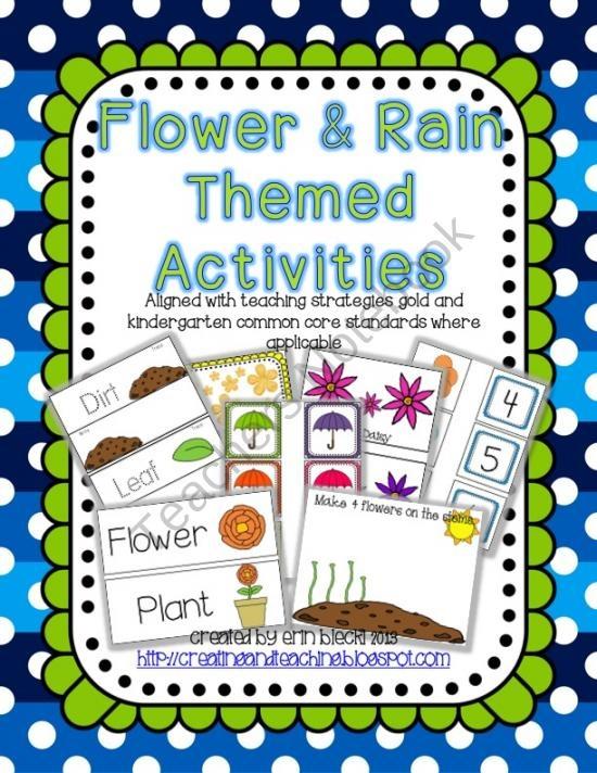 Flower & Rain Activities- 17 activities