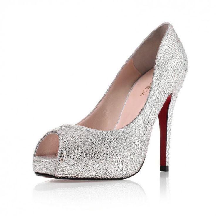 Best 25  Cheap silver heels ideas on Pinterest   Wedding shoes ...