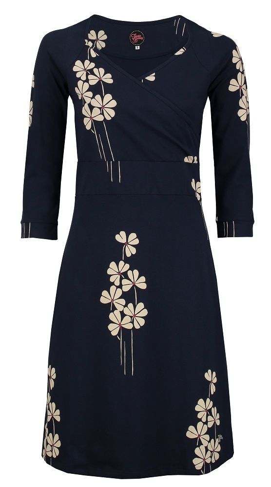 Tante Betsy Dress lemonade Butterfly navy blue floral print japanese donker blauw jurk