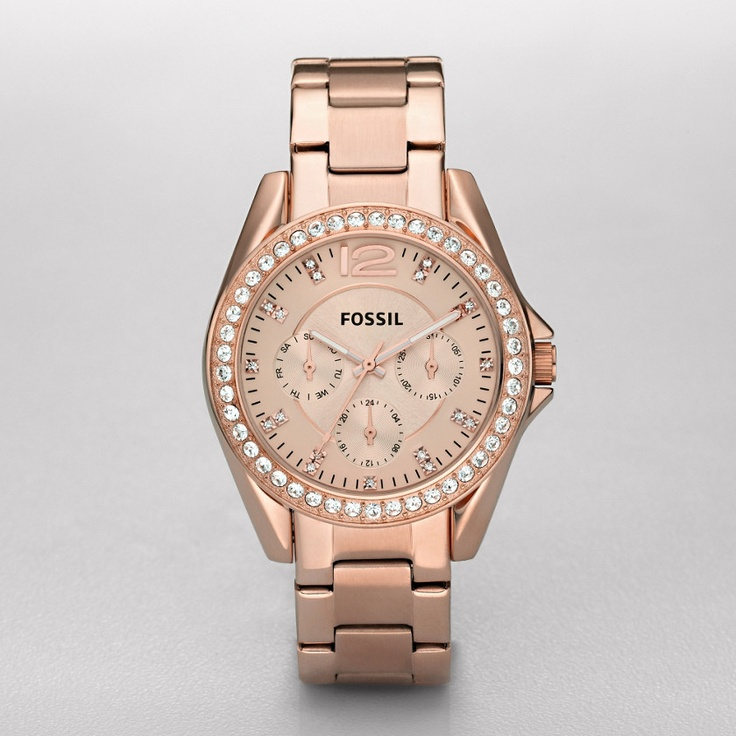 Fossil Riley Plated Stainless Steel Watch - Rose