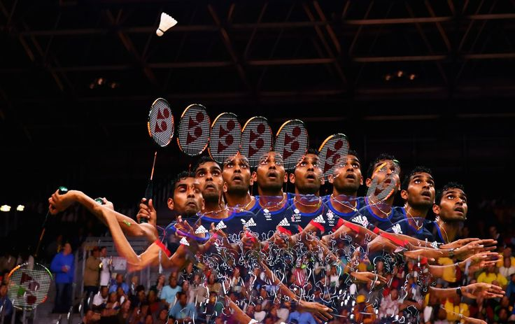 Rio de Janeiro, Brazil  A multiple exposure image of Team GB badminton player Rajiv Ouseph during a match at the Olympics Photograph: Dean Mouhtaropoulos/Getty Images