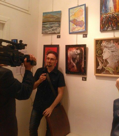 a roma 16 maggio 2015 - pantheon centro storico, galleria arte spazio in vicolo della vaccarella